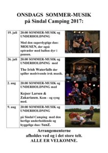 Sindal Camping - open Air onsdage