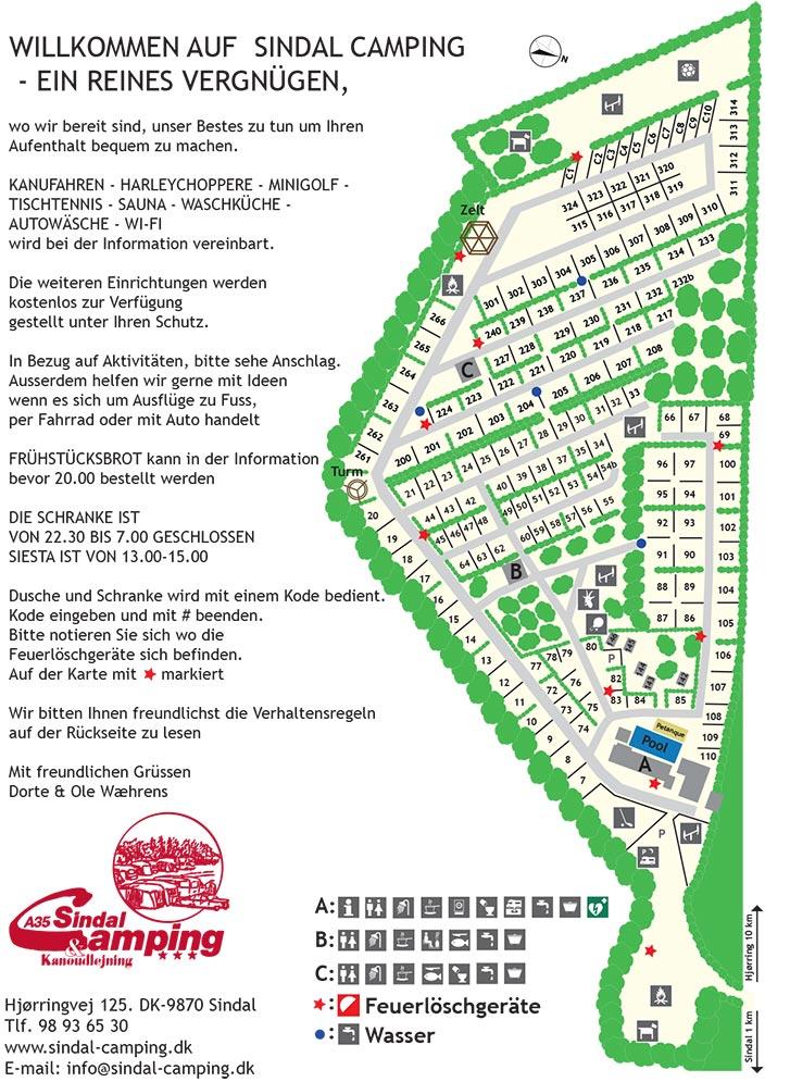Karte Sindal Camping