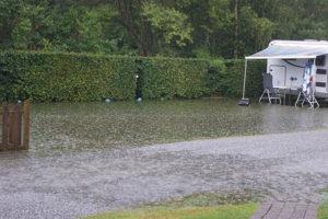 Sindal Camping - Regnvejr på Sindal Camping